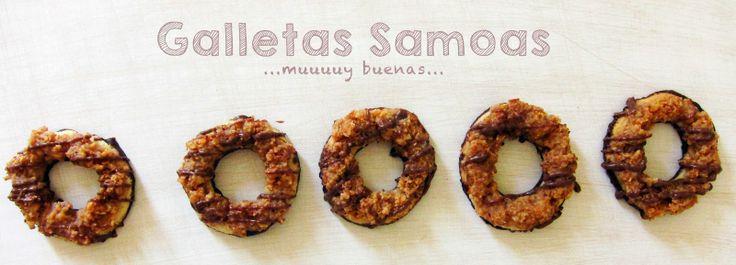 Galletas de coco, chocolate y toffee / samoas girl scout cookies