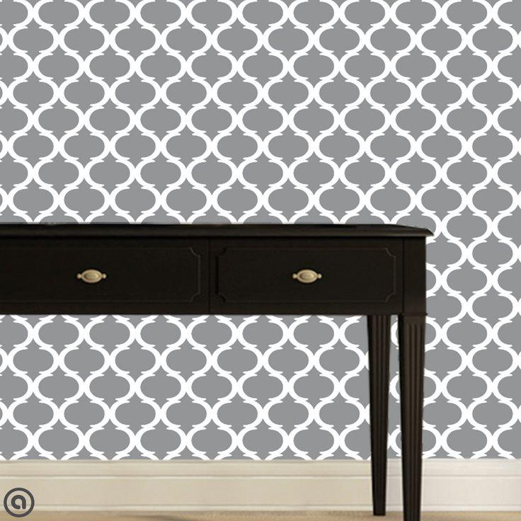 Moon Lattice Peel & Stick Fabric Wallpaper from Accent Wall Customs