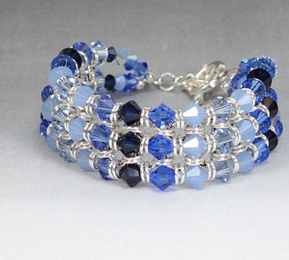 Bracelet Swarovski Crystal and Sterling by LogCabinCreation