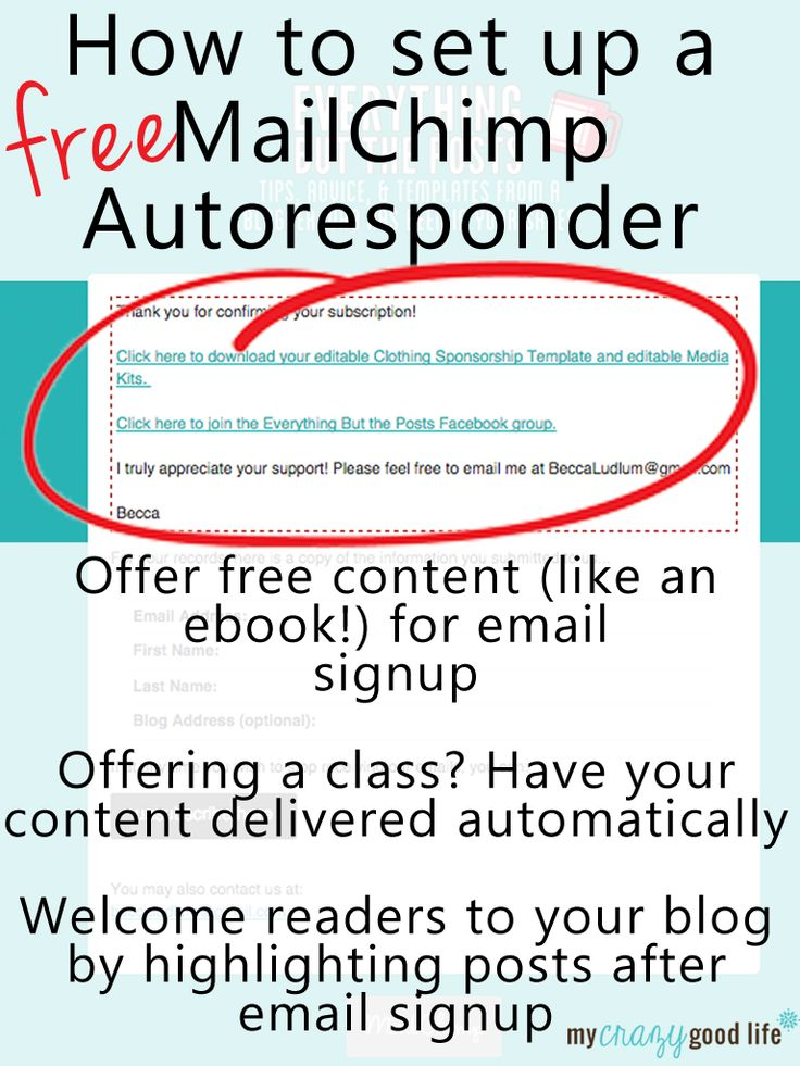 Setting an autoresponder is easy once you know where to look. Here's a tutorial to set up your MailChimp autoresponder for free content with email signup. #blogging