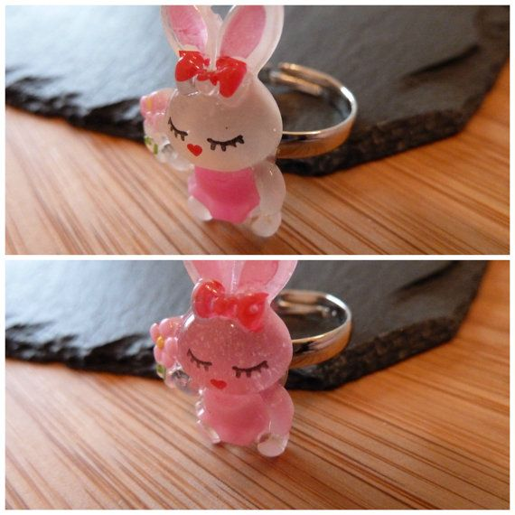 Etsy rings Etsy silver rings Rabbit ring SIZE S / M available Adjustable ring Silver plated  cute jewellery - cool jewellery kitsch £99p  Available for sale at etsy.com/uk/shop/tottietootles