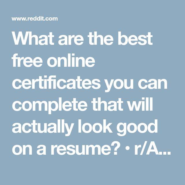 Best 25+ Certificates online ideas on Pinterest Online - free training certificates