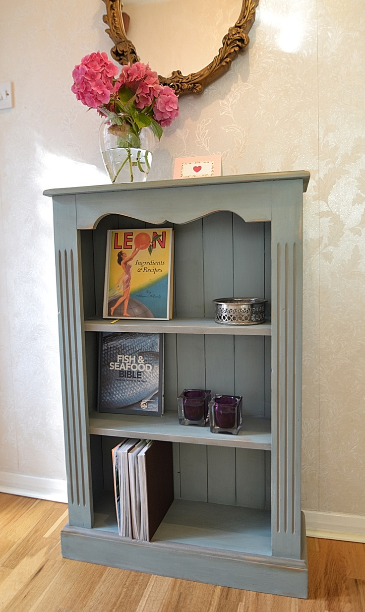 Painted Bookshelves Part - 30: Add A Country Feel To Your Home With This Small Pine Bookcase Painted In  Duck Egg