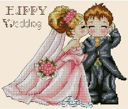 cross-stitch pattern free download as pdf file with wedding