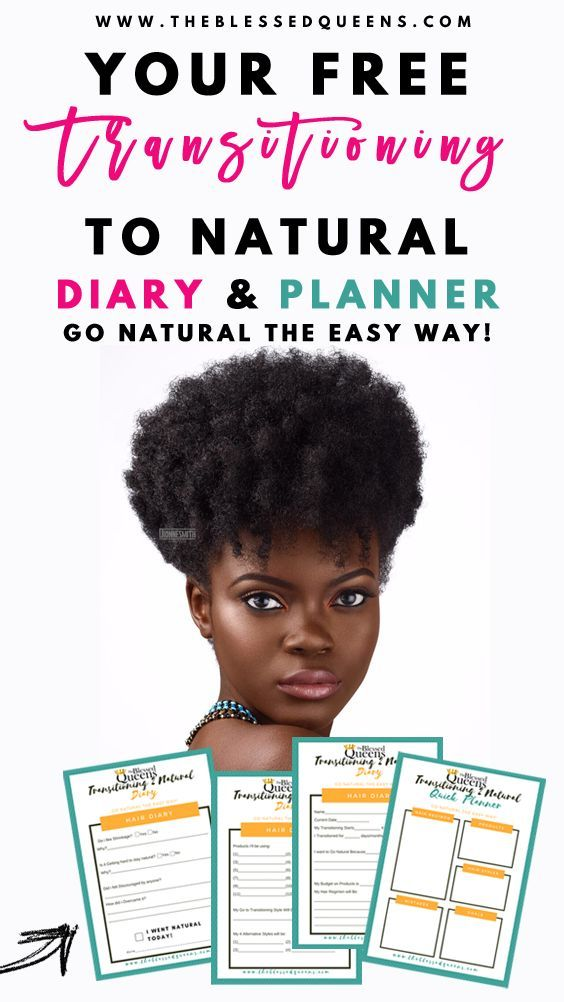 Free Transitioning to Natural Diary & Planner to help you go natural the easy wa…