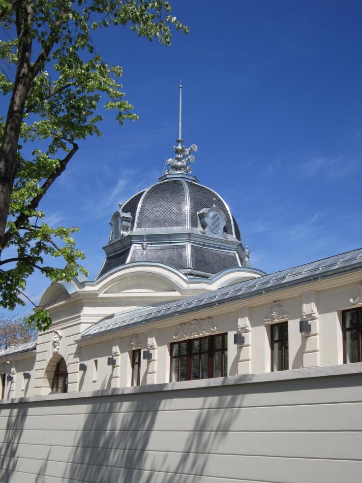 La pizarra natural CUPA le devuelve su esplendor a la Pista de Patinaje de Budapest. #natural #slate #pizarra #ardoise #couverture #roofing #cubierta #architecture #design