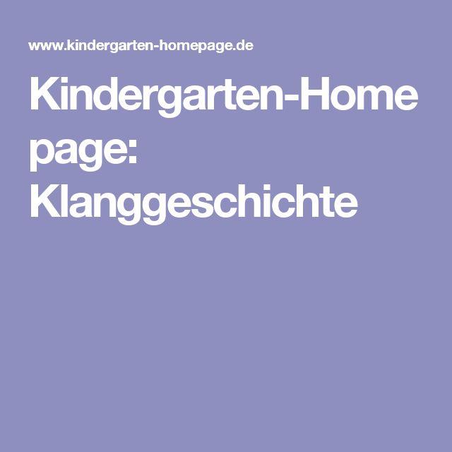 Kindergarten-Homepage: Klanggeschichte