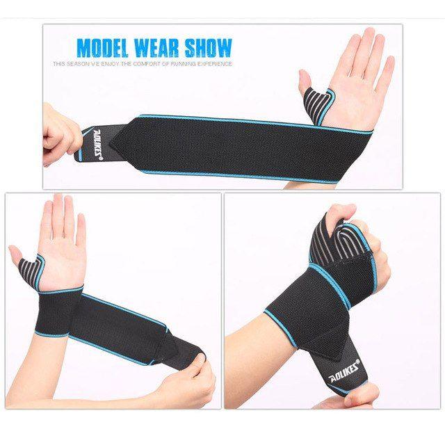 Weight Lifting BodyBuilding Gym Wrist Support Strap wraps ELBOW BRACE bar gloves