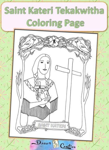 Saint Kateri Coloring Pagejpeg