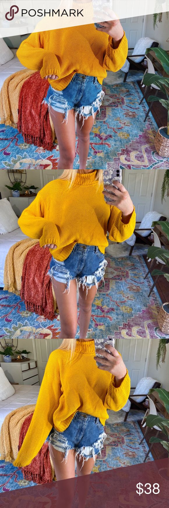 laynie // mustard turtleneck knit 🍯 descriptions coming soon! ask me any questions in the mean time ✨ ➳ tags • boho, beachy, trendy, dainty, ...