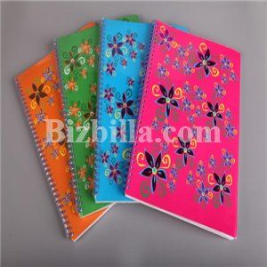 Double Wire #Notebook  #Metallic double wire with different #colors.  Read More<> https://goo.gl/Cgtix9