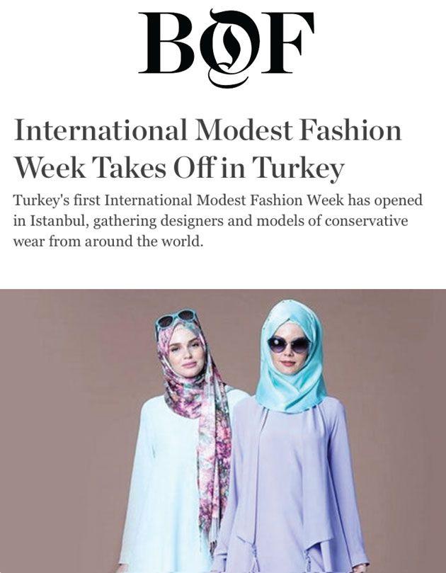 Business Of Fashion Modest Fashion Fashion Fashion Week