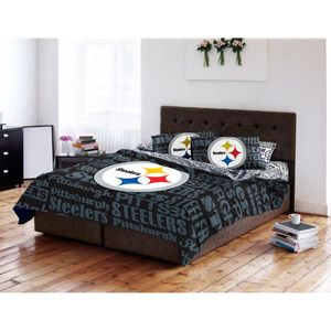 NFL Anthem Bedding Comforter, Pittsburgh Steelers