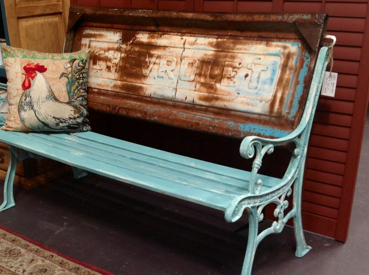 Vintage Chevy Tailgate Bench Provence Chalk Paint On New Bench