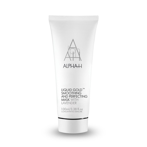 Alpha-H Liquid Gold Smoothing & Perfecting Mask. Best face mask I've used, brightens and smooths. Contains glycolic acid.