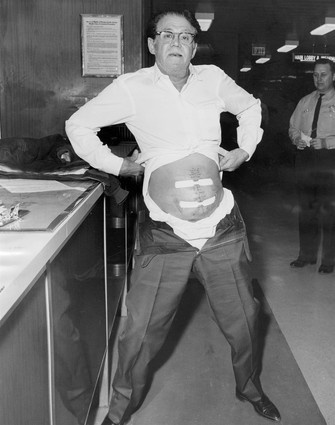 "Sam ""Mad Sam"" DeStefano (September 13, 1909 − April 14, 1973) was an Italian-American gangster who became one of the Chicago Outfit's most notorious loan sharks and sociopathic killers."