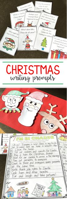 Tons of Christmas writing prompts and crafts to use around the holidays! My first grade class loves to choose one of the daily writing prompts for their journals!