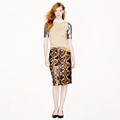 J.Crew - Collection No. 2 pencil skirt in python