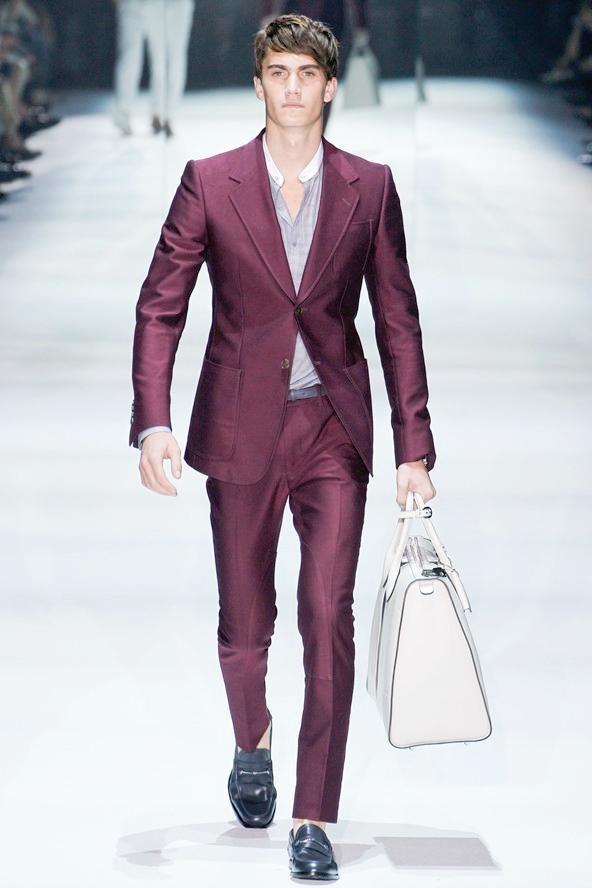 Burgundy Fashion Men