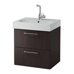 IKEA - GODMORGON / BRÅVIKEN, Mobile per lavabo con 2 cassetti, effetto rovere con mordente bianco/grigio chiaro, , 10 anni di garanzia. Scopri i termini e le condizioni nell'opuscolo della garanzia.Cassetti a scorrimento e chiusura morbidi, con fermacassetti.Puoi modificare facilmente l'ampiezza degli scomparti del cassetto spostando il divisorio.Puoi vedere e raggiungere facilmente il contenuto poiché i cassetti si estraggono completamente.Cassetti in legno massiccio con base in…