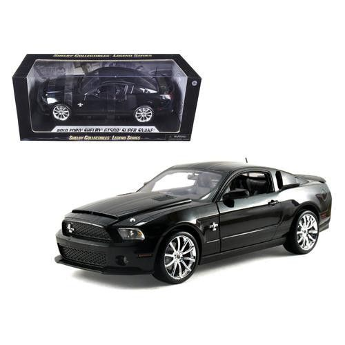 2010 Ford Shelby Mustang GT500 Super Snake Black 1/18 Diecast Model Car by Shelby Collectibles