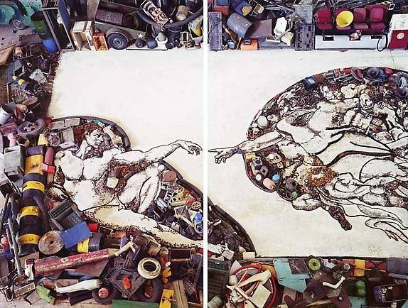 The Creation of Adam, After Michelangelo, 2011 From Pictures of Junk
