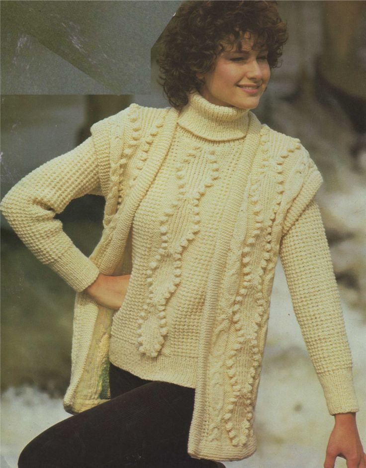 Knitting Pattern Ladies Gilet : 1000+ images about Knitting- Crocheting on Pinterest Cable, Knitting and Knits