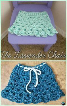 Crochet Stacked Shell Skirt Free Pattern - Crochet Girls Skirt Free Patterns