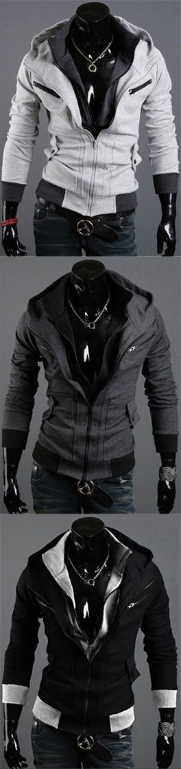 Men's Sports Going out Casual/Daily Street chic Hoodie Color Block Hooded Micro-elastic Cotton Polyester Long Sleeve Fall