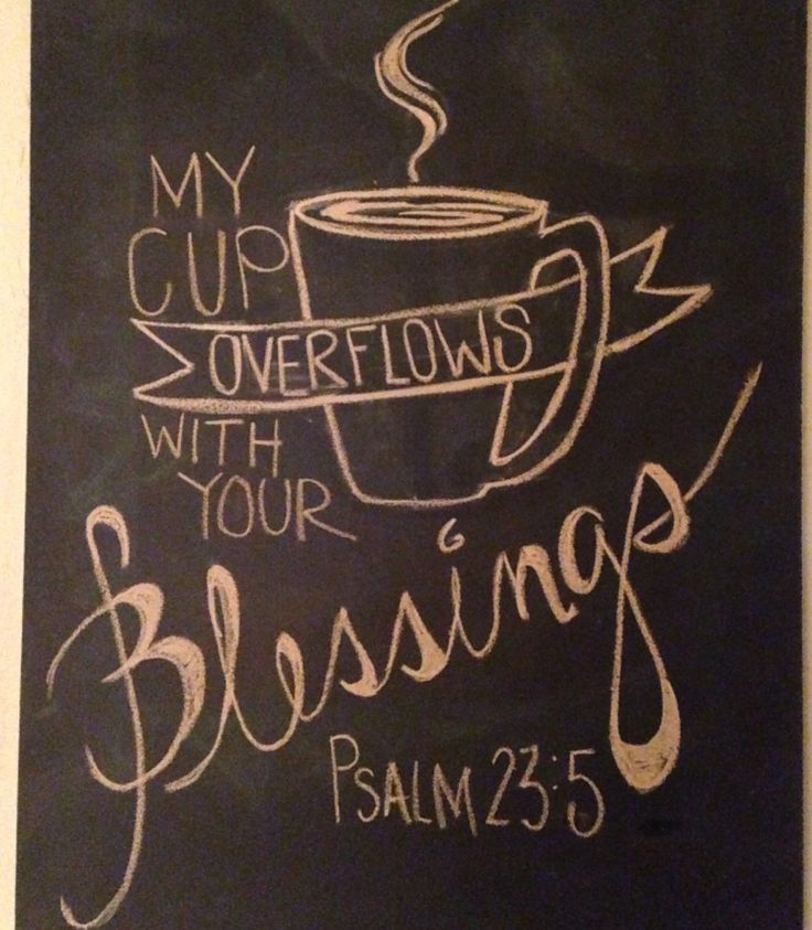 Chalkboard art....my cup overflows. I HAVE to make this for our coffee bar!!
