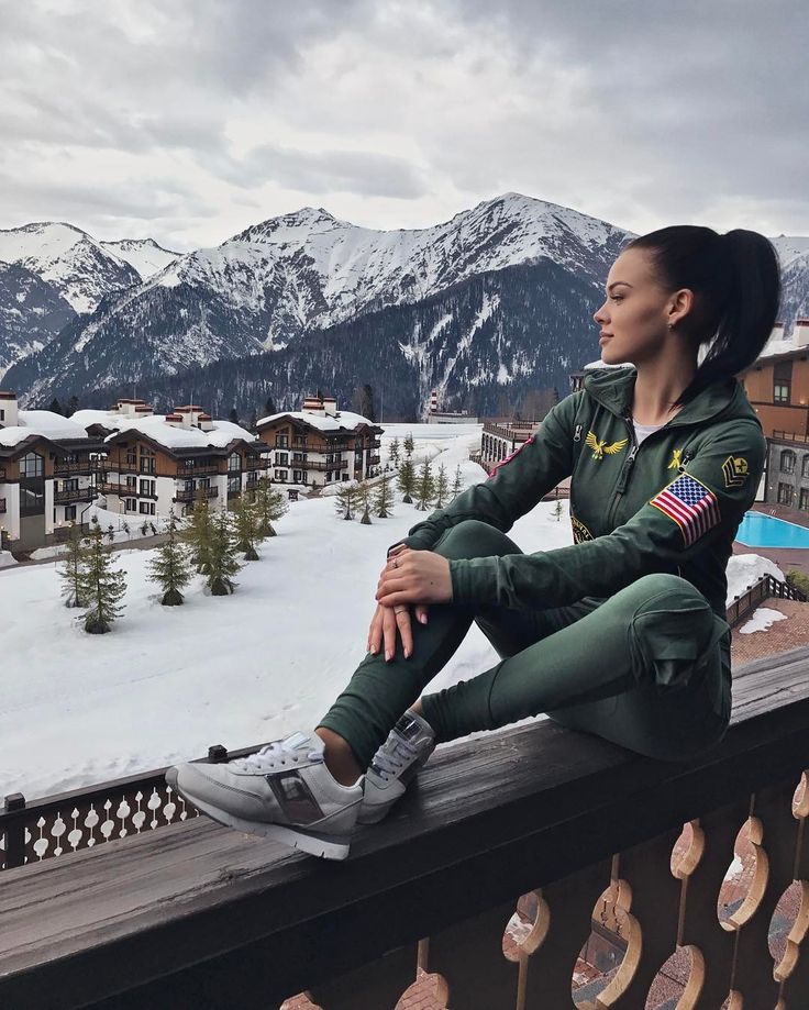 Beautiful Russia with @annasergeevna1795 wearing the Aviator #Russia #Mountains #Onesie #Jumpsuit #Onepiecenorway