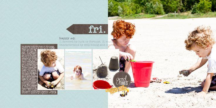 Dos diseño de página del libro de recuerdos - comenzado desde un único boceto página - por Tara McKernin - | GetItScrapped.com/blog
