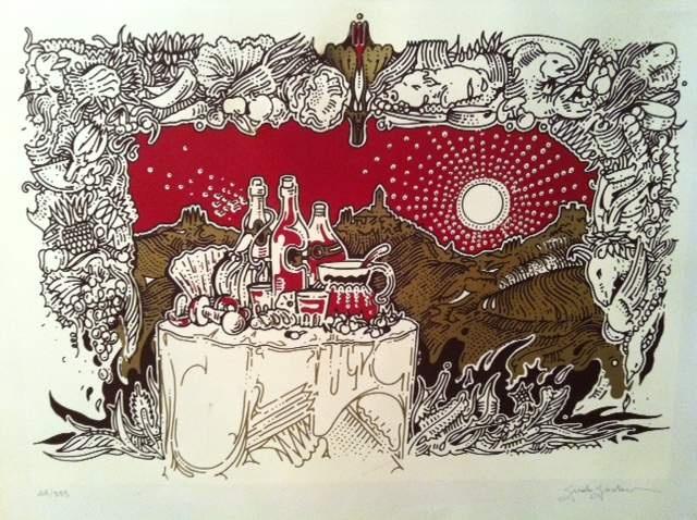 Guido Giordano - Litografia 50x70 cm firmata e numerata a lapis dall'artista.