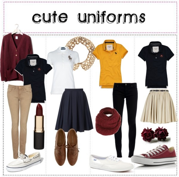 Best ways to add style to your uniform! | Cute Clothing | Pinterest | The outfit Skinny pants ...