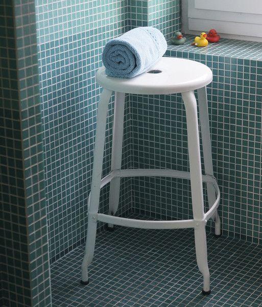 Nicolle Stool - Glossy White #barstool #steel #customised #colours #industrialstyle #madeinfrance #interiordesign