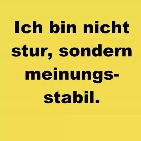 Meinungsstabil :-)