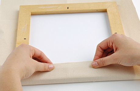 How to make a stretched canvas frame