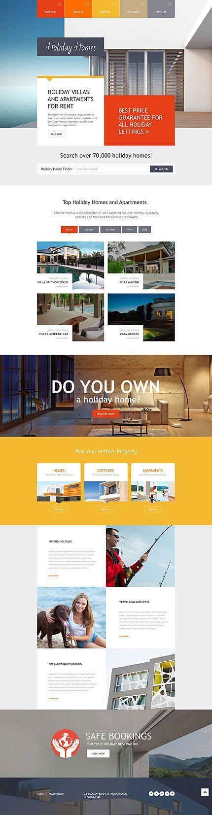 Website Themes Website Layout Website Design Rental Websites Website