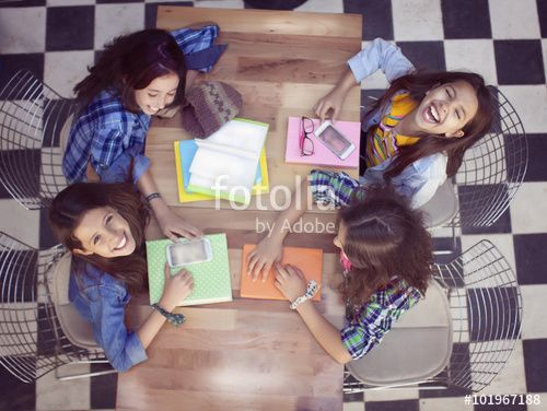 Young Students together at Library High View
