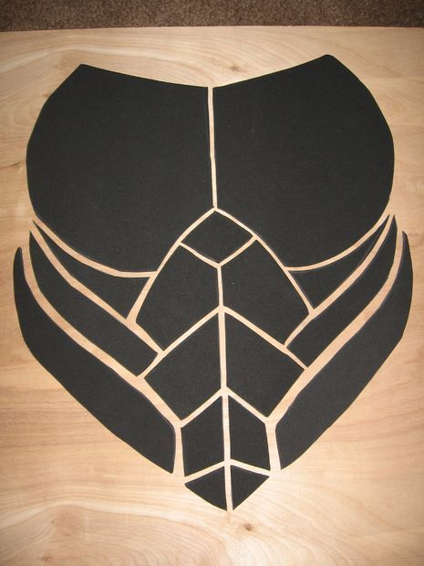 Craft foam chest armor