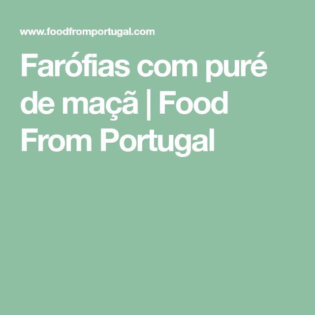 Farófias com puré de maçã   Food From Portugal