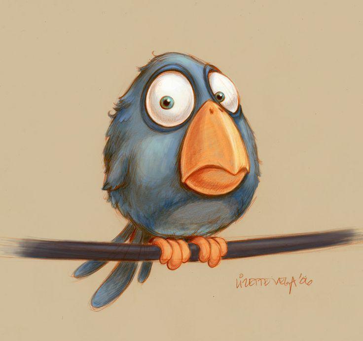 Днем рождения, смешная птица рисунки