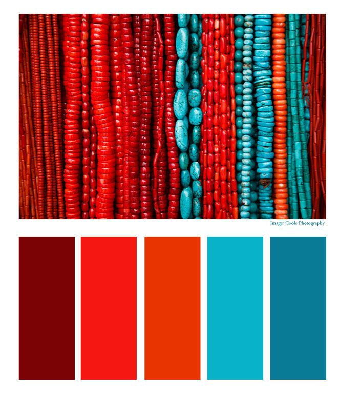 Aztec Empire: Turquoise and Coral