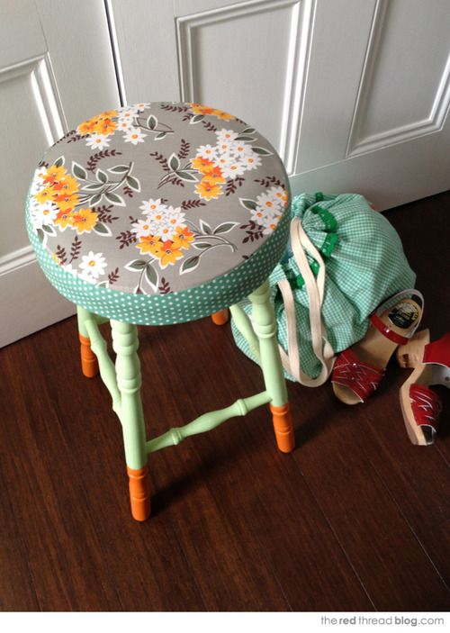 this is such a darling little stool. It is perfect for the back to school season.