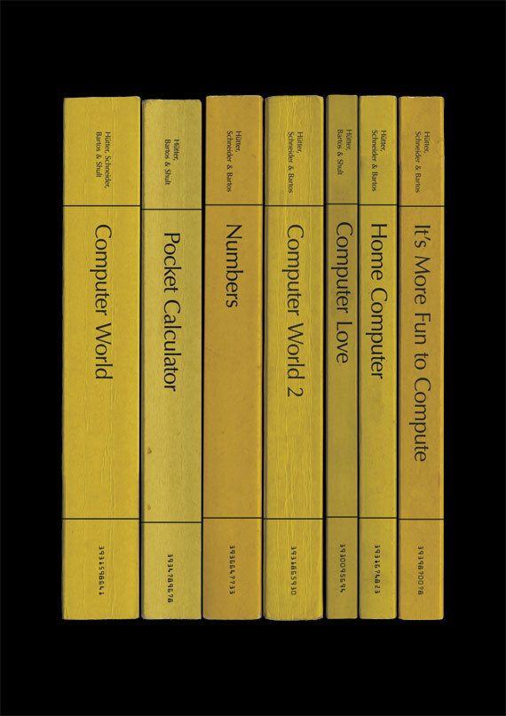 Kraftwerk 'Computer World' Album As Books Poster Print