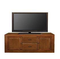 "Curtis Mathes 70"" TV Console w/Panel Doors-Cherry"