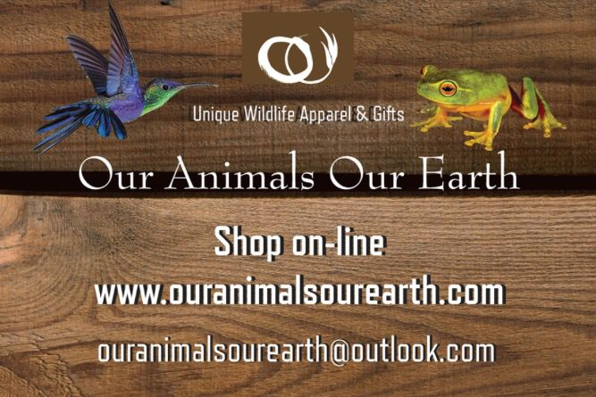 Wildlife apparel, gifts and art www.ouranimalsourearth.com