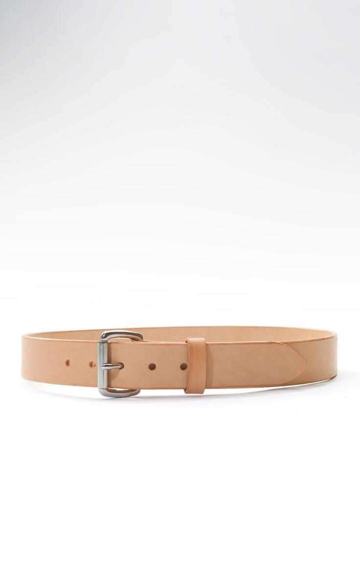Tanner Goods Standard Belt Natural Stainless