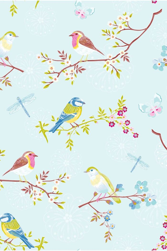 Sarebbe una fantastica tappezzeria! (PiP Early Bird Blue Wallpaper)