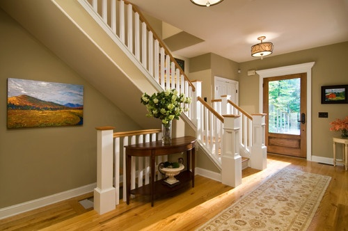 Sw7548 Portico By Sherwin Williams Honey Oak Trim Oak